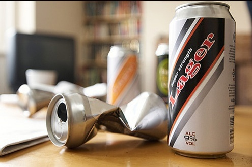 Cans of larger on a table